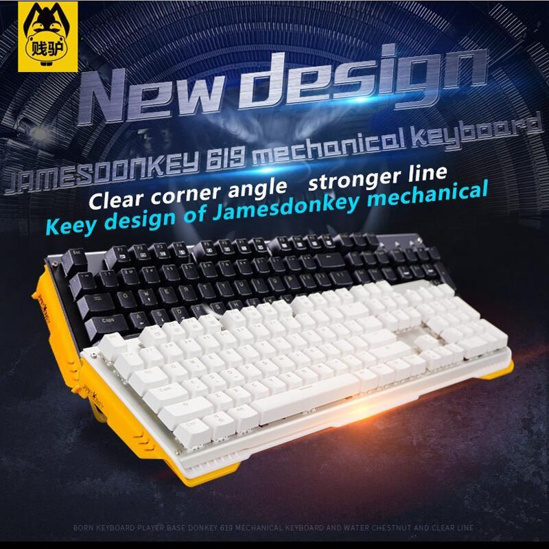619 механическая клавиатура 104 ключей синий чёрный; коричневый красный переключатель gateron Подсветка игровой проводная клавиатура с USB для PC ...