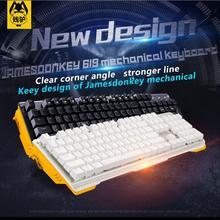 цена на James Donkey 619 Mechanical Keyboard 104key MX black blue switches Backlight Gaming Keyboard cool lighting