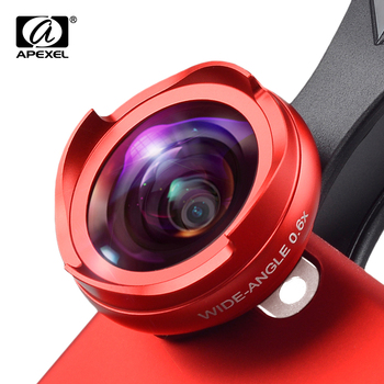 APEXEL 2 in 1 Optic lens 4k HD professional wide angle+macro lens for iPhone 5s 6s 7plus Xiaomi android smartphone no distortion