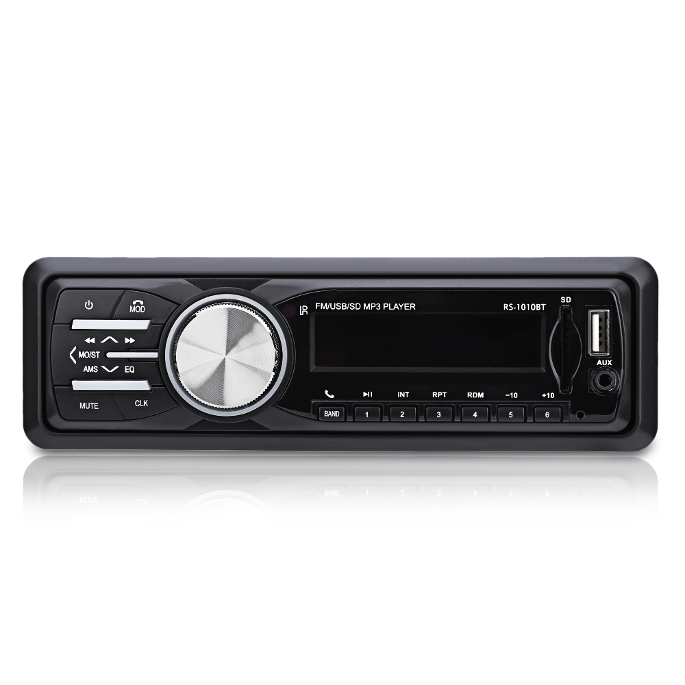 1 din fm bluetooth auto audio in dash 12v car radio. Black Bedroom Furniture Sets. Home Design Ideas
