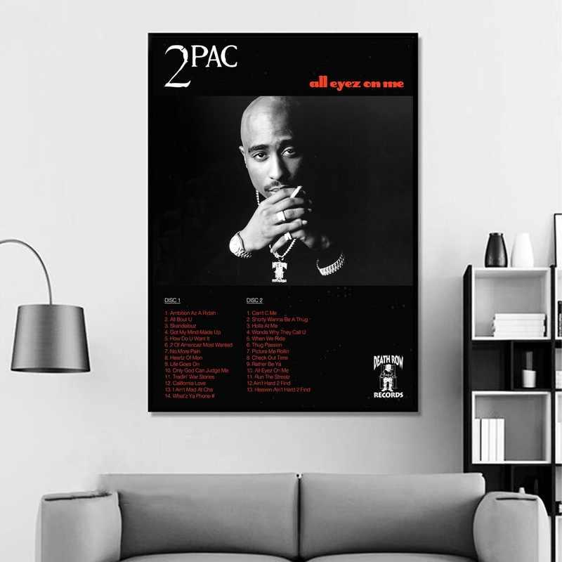 Tupac, 2Pac-Tutti Gli Occhi Su di Me Album di Musica Pop Musicale copertura Star Poster Stampe Su Tela Arte Della Parete Per Soggiorno complementi Arredo Casa