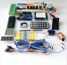 free shipping Starter Kit for Arduino/ Step Motor /Servo/ 1602 LCD/ Breadboard/ jumper Wire/ UNO R3 / MB-102 / ULN2003