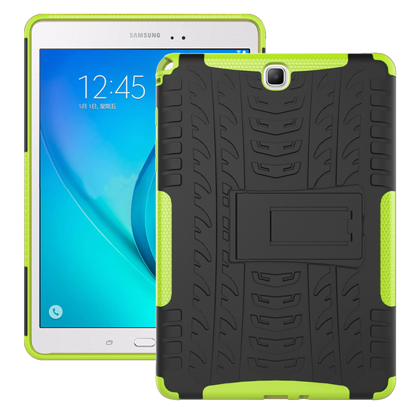 For Samsung Galaxy TAB A 9.7 T550 T555 Tough Impact Case Heavy Duty Armor Hybrid Anti-knock Silicon Hard Back Cover case for samsung galaxy tab a 9 7 inch tablet sm t555 t550 555 550 hybrid stand hard silicone rubber armor case cover gift 3in1