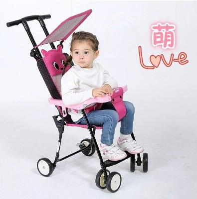 Niños de cuatro ruedas carro de bebé cochecito ligero plegable portable