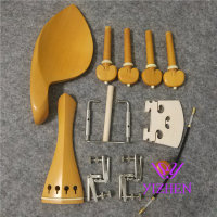 1 sets 4/4 violin boxwood fittings parts accessories England tailpiece chinrest endpin 4 pegs fittings,violin parts