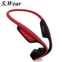 New S. Wear LF-19 Không Dây Tai Nghe Bluetooth Stereo BT 4.1 Không Thấm Nước dây đeo Cổ-tai nghe Bone Conduction Tai Nghe Rảnh Tay-miễn phí
