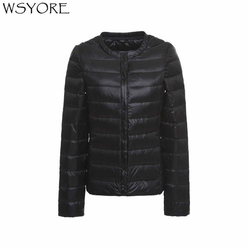 WSYORE Ultra Dwon Jackets Women 2018 New Light Duck   Down   Winter Jacket White Slim PLus Size Long Sleeve   Down     Coats   Female NS590