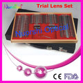 232L-JS Special offer Top quality CE Certificate Trial Lens Set Case Shiny Metal Rim Leather Case     lowest shipping costs !
