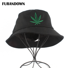 Купить с кэшбэком New Bucket Hat Men Maple Leaf Embroidery Fisherman Cap Women Summer Casual Bucket Hats Unisex Outdoor Fishing Hat