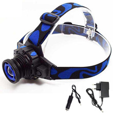 Rechargeable Q5 LED Headlamp Head Light Torch Frontal Flashlight Forehead Bike Running Headlight Zoomable Head Lamp