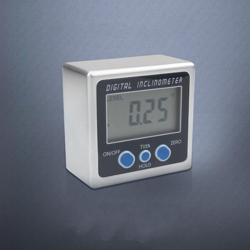 Digital inclinometer electronic protractor digital angle meter 360 degree magnet angle ruler digital inclinometer tilt box in Protractors from Tools
