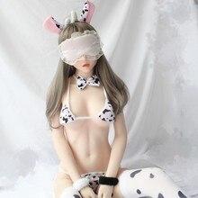 Ensemble de soutien gorge érotique Sexy de vache, Micro Bikini, ensemble de culottes, sous vêtements, costume Anime Cosplay, vêtements de nuit bdsm bondage