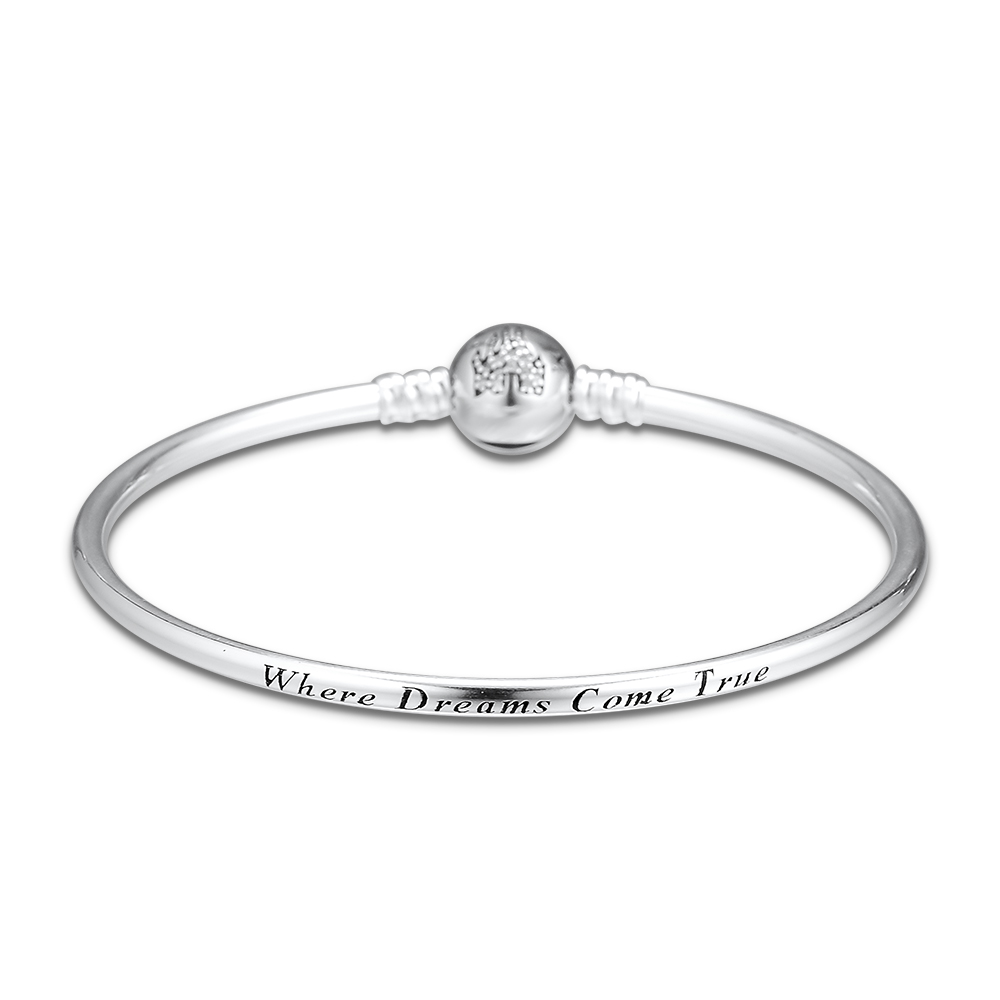 925 Sterling Silver Moments Charm Bangle Bracelet Where Dreams Come True Bangles for Women Silver 925 Jewelry pulseras mujer925 Sterling Silver Moments Charm Bangle Bracelet Where Dreams Come True Bangles for Women Silver 925 Jewelry pulseras mujer