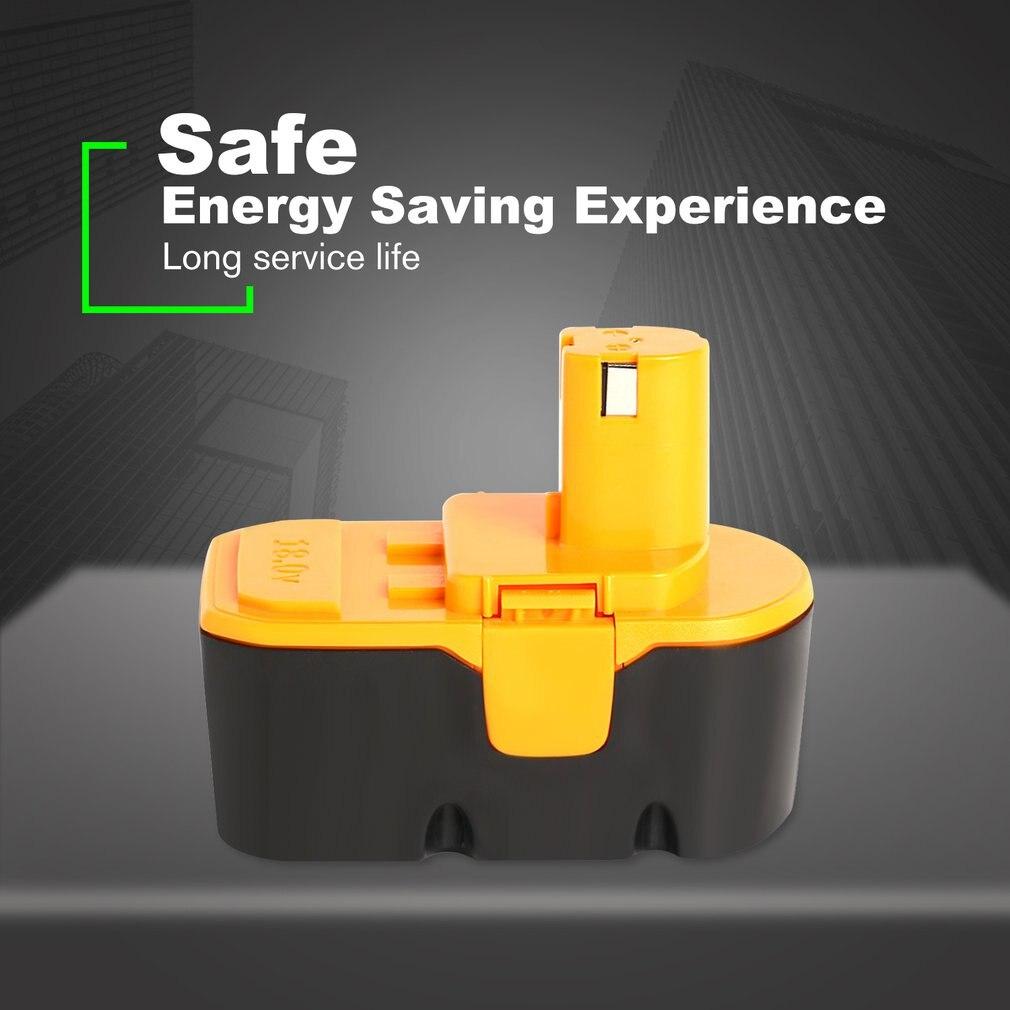 Batterie Rechargeable d'outil électrique de 18 V 3000 mAh Ni-MH pour la capacité élevée d'économie d'énergie de RYOBI P108 RB18L40