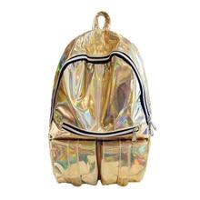 2017, Новая мода рюкзак женские Лазерная сумки на плечо для девочек-подростков дорожная сумка ноутбук сумка Mochila Feminina