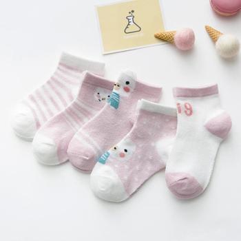 0-3Y 5 Pairs/lot Infant Baby Socks Cute Summer Breathable Mesh Sock Cotton Newborn Boys Girls Short Socks - M, 24M