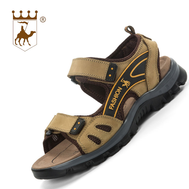 BACKCAMEL 2018 New Summer Mens Sandals High Quality Breathable Casual Shoes Leather Sandals and Slippers Men Trend Beach Shoes