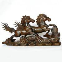 V Деревянный конь резной палисандр ремесла бизнес подарки большой 60 см