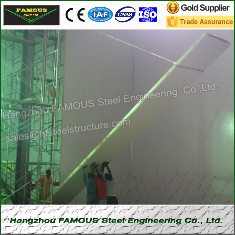 PU Sandwich Panel Insulated Polystyrene Panel For Walk In Freezer And Food Fresh Keeping Room, Blast Freezer Cold Room
