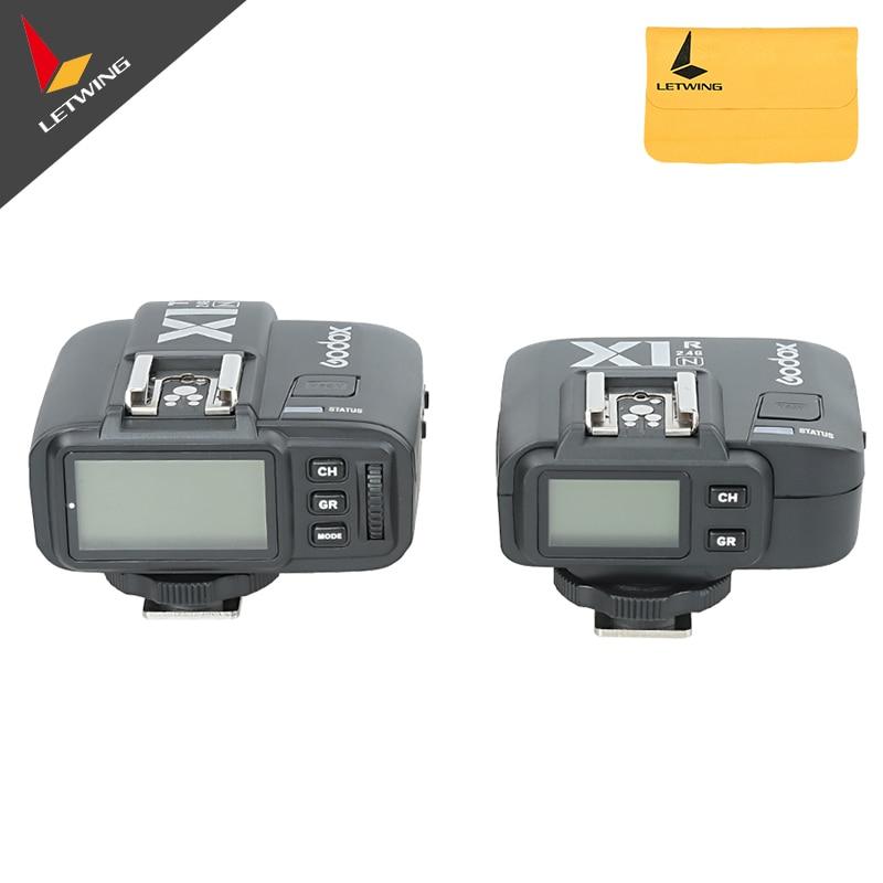 Godox X1N TTL 2.4GHz 무선 전송 화면 플래시 트리거 여러 기능 송신기 + 수신기 니콘 카메라