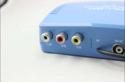 טלוויזיה מערכת טלוויזיה אות סטנדרטי אודיו וידאו אות ממיר AV כדי RF מודולטור טלוויזיה 220V האיחוד האירופי Plug
