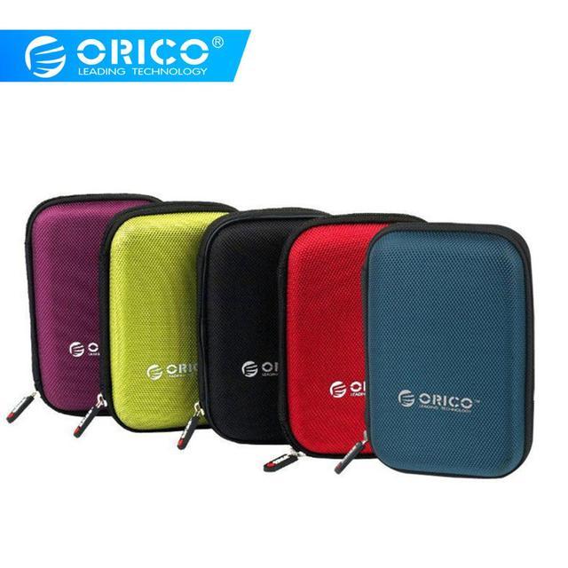 ORICO PHD-25 HDD de 2,5 pulgadas bolsa de protección caja para disco duro externo de almacenamiento de protección para HDD SSD negro/ azul/Verde/morado