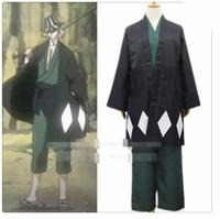 Anime Bleach Cosplay Bleach Urahara Kisuke Cosplay Costume Kimono Halloween Costume Full Outfit Coat+Shirt+Pants