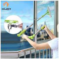 New Telescopic High-rise Cleaning Glass Sponge Mop Multi Cleaner Brush Washing Windows Dust Brush Easy Clean the Windows