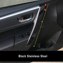KOUVI Stainless Steel Auto inner door handle Cover trim moulding Garnish for Toyota Corolla 2014 2015 2016 2017 8pcs/set