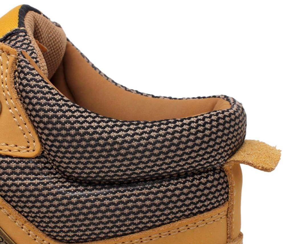URBANFIND Lace-Up Men Fashion Boots EU 38-44 Durable Rubber Sole Man Nubuck Leather Ankle Shoes Brown / Yellow 12