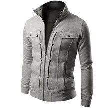 Chaqueta de hombre 2018 nueva moda para hombre Slim diseñado solapa  Cardigan chaqueta primavera otoño abrigo de algodón sólido V.. 15ba287a435