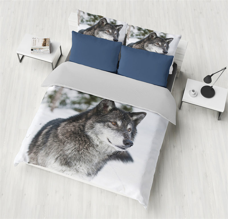 Classical Polyester Bedding Sets 3D Wolf Grey Twin King Queen Double Bedclothes Duvet Covers Set Bedding Set Home Textile Classical Polyester Bedding Sets 3D Wolf Grey Twin King Queen Double Bedclothes Duvet Covers Set Bedding Set Home Textile
