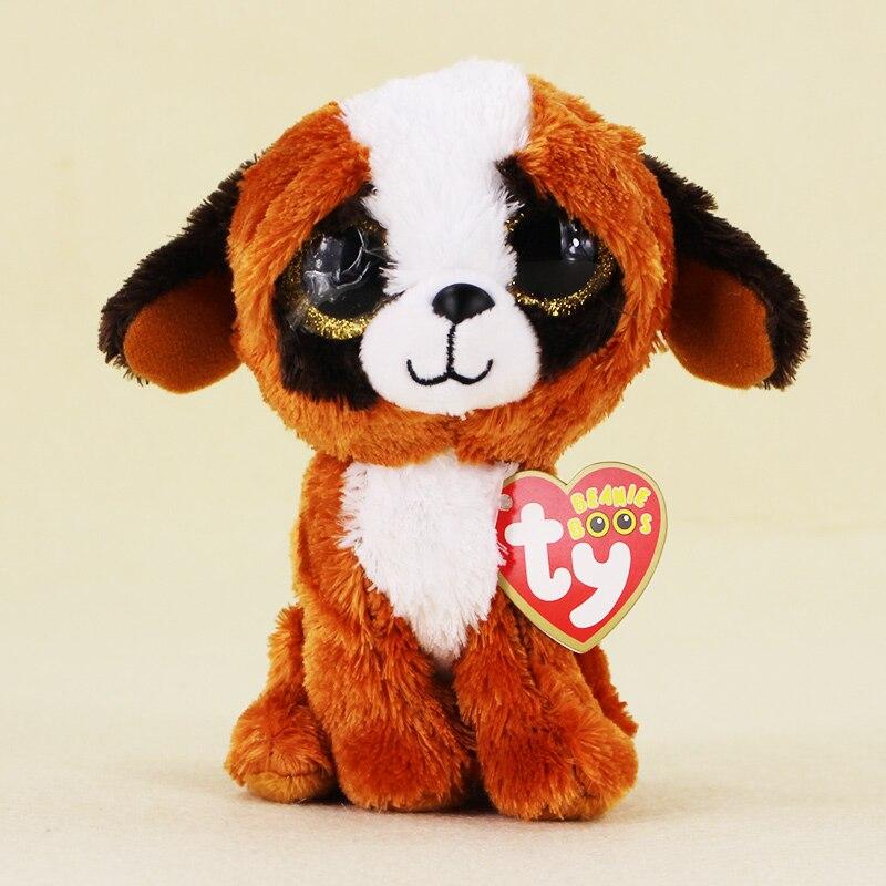 15 см Ty Beanie Боос большие Средства ухода для век плюшевые игрушки куклы белая собака ty для маленьких детей со дня рождения подарки