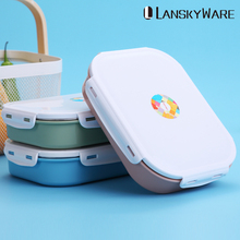 LANSKYWARE 304 Stainless Steel Japanese Lunch Box With Compartment Microwave Bento For Kids School Picnic Food Container