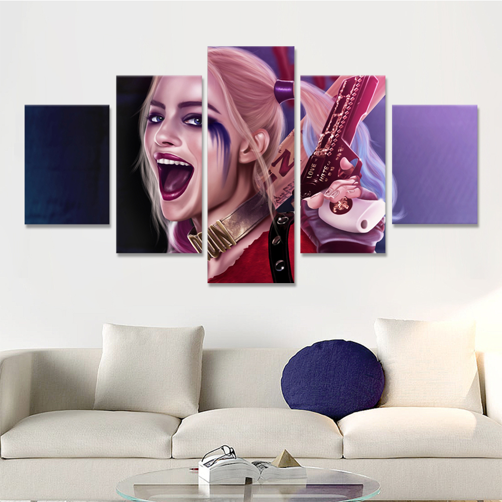 Unframed Canvas Prints X Task Force Clown Female For Living Room Decoration Mural Module Art Spray Painting Dropshipping
