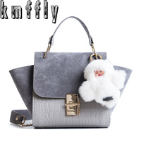 KMFFLY 2017 Winter Luxury Handbags Women Bags Wing Handbag Women Famous Brand Designer Bag Crossbody Messenger
