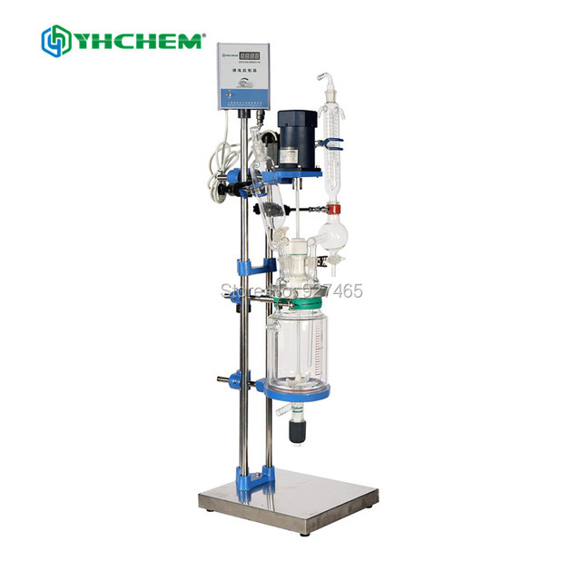 3l jacketed glass chemical reactor glass reactor in laboratory