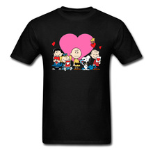 Peanuts valentine day O-Neck T-Shirt Summer/Autumn Party Tops & Tees Hunter Sleeve 2019 Hot Sale All Metal T Shirt Man
