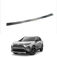 For Toyota Rav4 2019 2020 304 Stainless Steel Rear Tail Box Gate Door Bumper Sill Threshold Scuff Plate Foot Pedal Trim