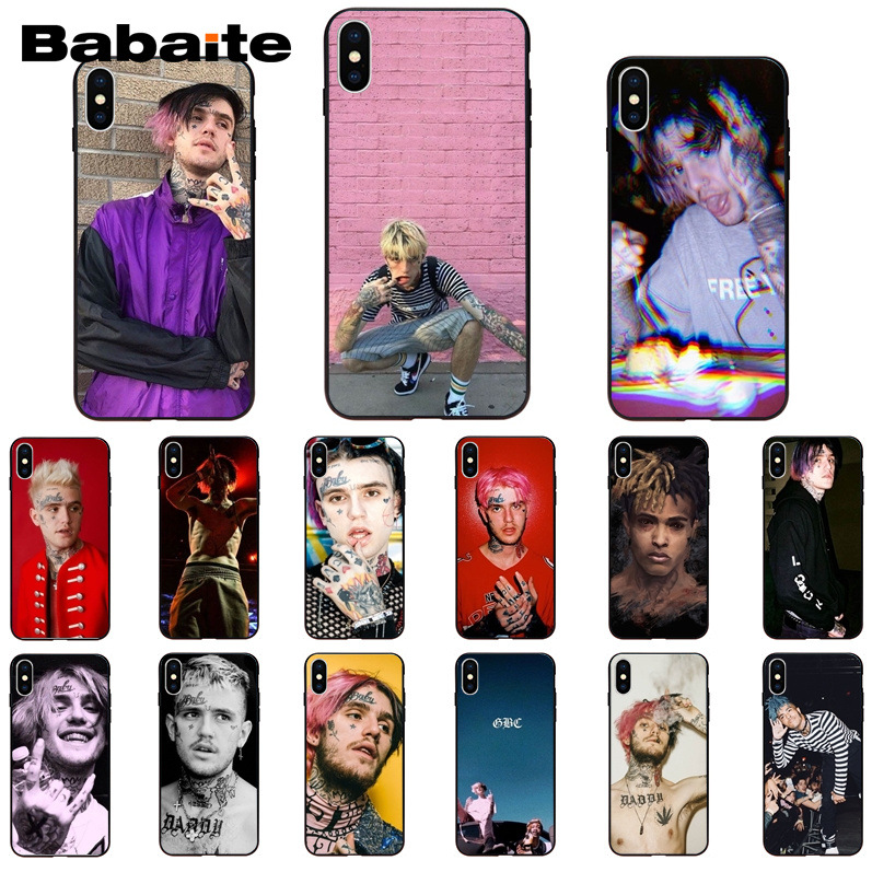 Babaite Tentacion <font><b>Lil</b></font> <font><b>Peep</b></font> <font><b>Lil</b></font> Bo <font><b>Peep</b></font> Printing Phone <font><b>Case</b></font> for Apple <font><b>iPhone</b></font> <font><b>8</b></font> 7 6 6S Plus X XS MAX 5 5S SE XR 11 11pro 11promax image