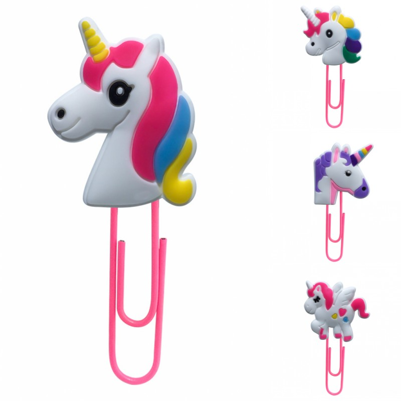 1pcs Unicorns Bookmark For Books Paper Clips For Kids Stationery For Student Teacher Office Supply Fantasy Book Mark Gift