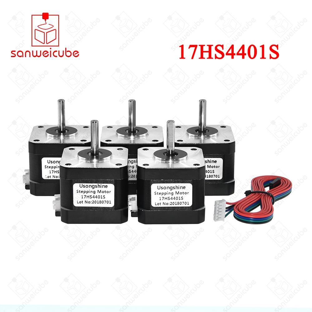 5 unids/lote (17HS4401S) 17HS4401 V5 V6 4 Plomo Nema17 Stepper Motor 42 motor Nema 17 motor 42 BYGH 1.5A (17HS4401S) motor para CNC
