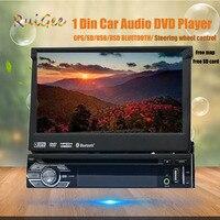 1din 8 Гб gps аудио стерео один 1din автомобильный Радио цифровой прибор с сенсорным экраном процессор головное устройство FM AM RDS приемник сабвуфе