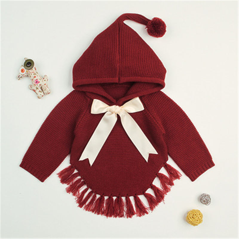 MQ Baby Girl Hoodies Series 2018 Winter Children Clothing Bow Knitted Pullover Cute Casual Sweatshirts For Kids K83C120B 1