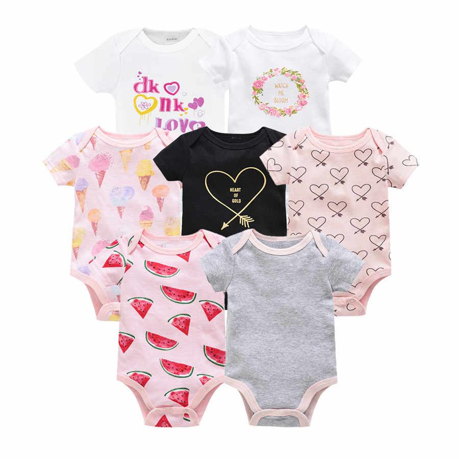 Kavkaz vetement bebe ฤดูร้อน 2019 7 ชิ้น/ล็อตเด็ก roupas de bebe recien nacido ทารก ropa 0 3 6 9 12M ทารกแรกเกิดเสื้อผ้า