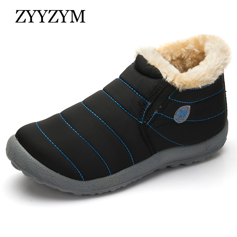 ZYYZYM Womens Boots Winter Keep Warm Snow Classic Unisex Casual Plush Cotton Female Large size
