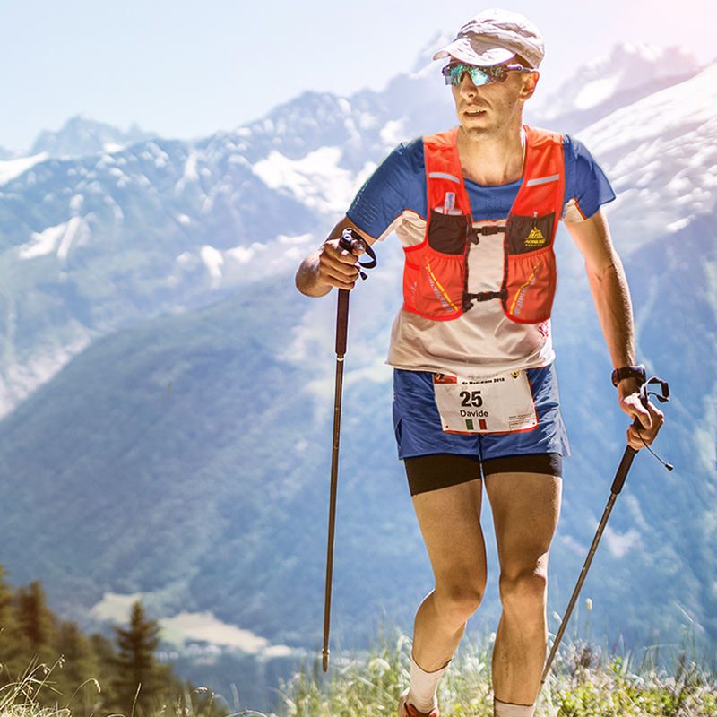 running - AONIJIE Hydration Pack Backpack Rucksack Bag Vest Harness Water Bladder Hiking Camping Running Marathon Race Climbing 5L