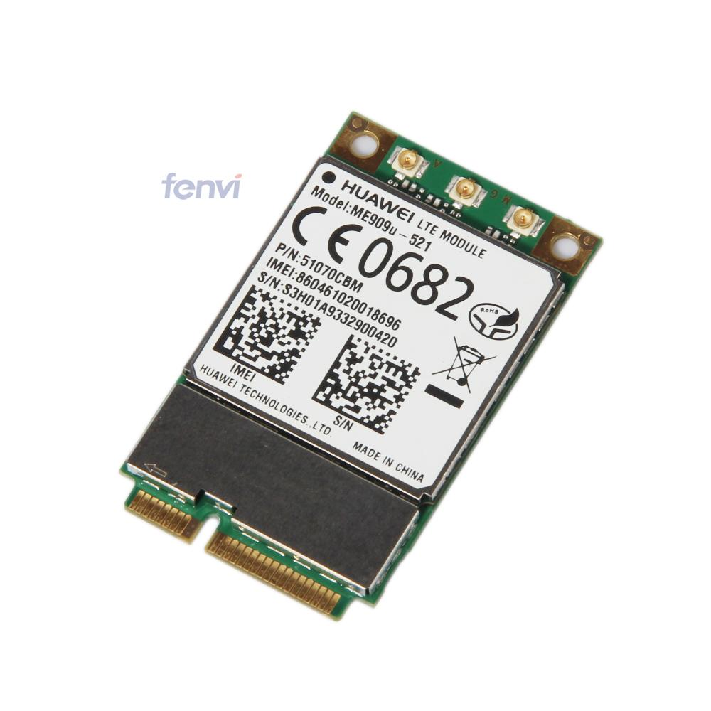 Unlocked Brand New Huawei ME909U-521 4G LTE FDD MINI PCI-E Wireless WWAN Communication DEGE GPRS GSM HSPA HSPA+ GPS Module telit ln930 dw5810e m 2 twh3n ngff 4g lte dc hspa wwan wireless network card for venue 11