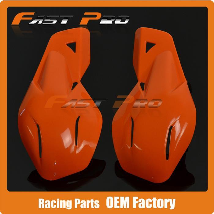 "Orange Plastic 7/8\"" 22mm Handguards <font><b>Hand</b></font> Guards Brush Bar For Motorcycle Dirt Bike Motocross KTM 125 250 300 400 450 525"