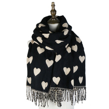 jzhifiyer YX172 65*180+10*2cm 100%Acrylic Winter Thick Love Shawl Scarf Luxury Brand